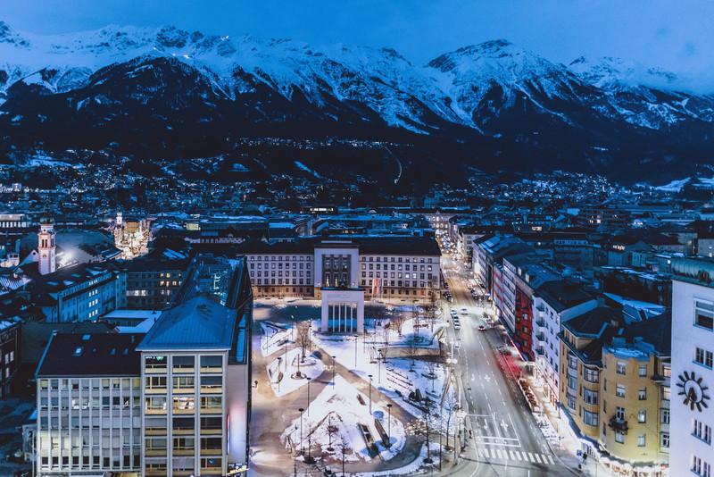 Tirols Landeshauptstadt Innsbruck; © 2021, PhotoCredit: EXPA/ JFK - 20210125_PD1397 - Rechteinfo: Rights Managed (RM)