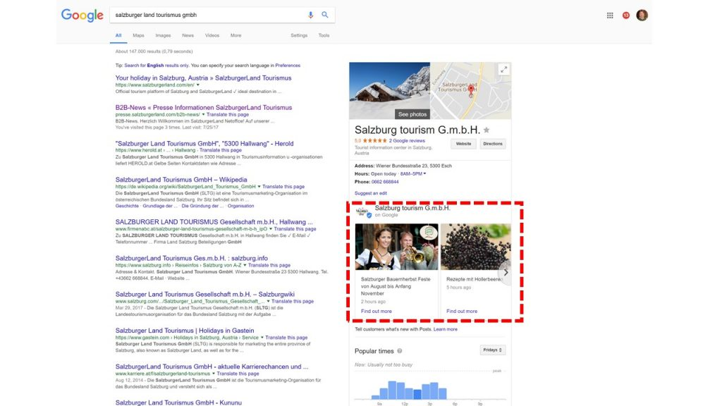 Google My Business Artikel