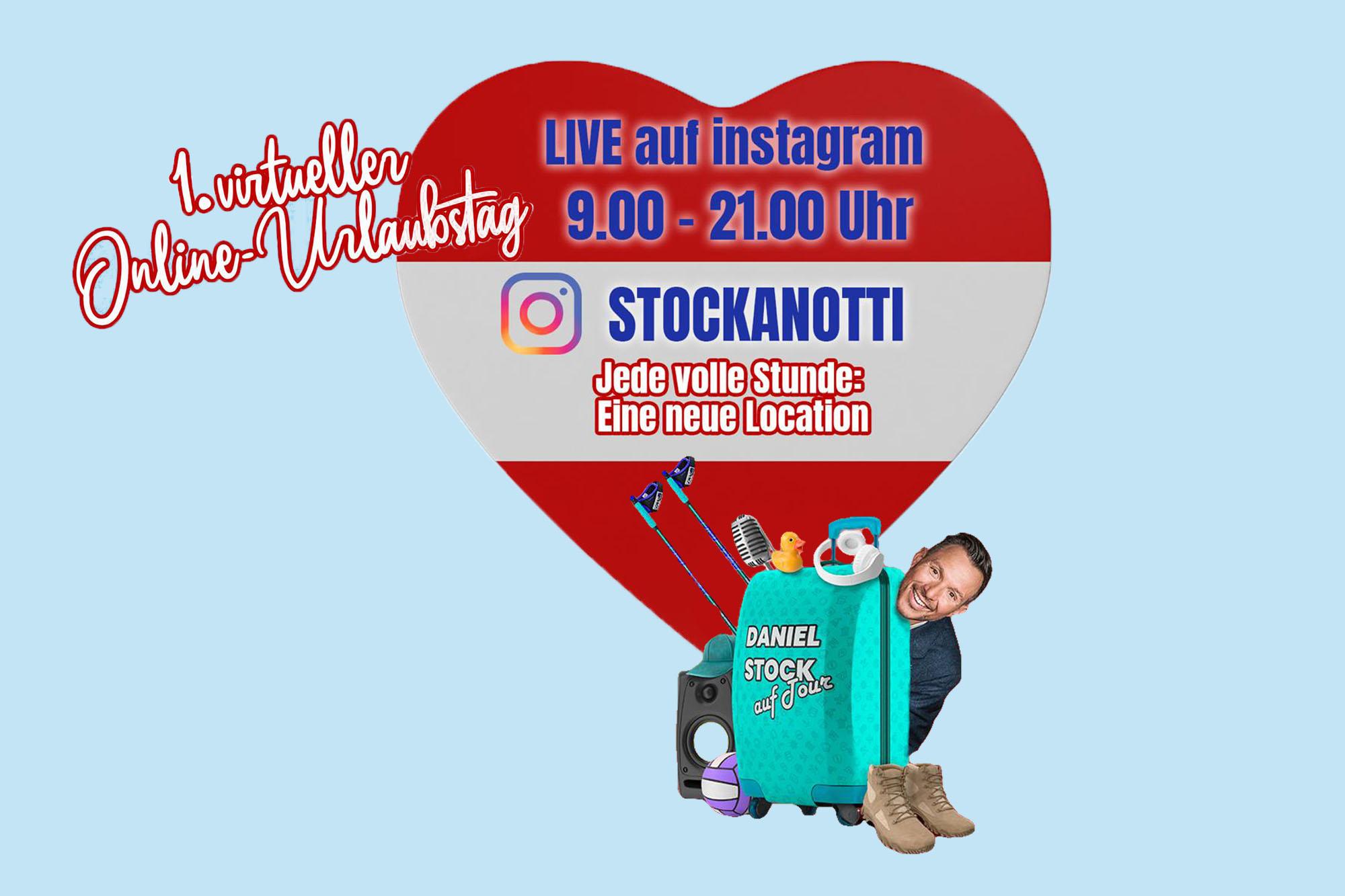 Pressebild zum Thema 1. Online-Urlaubstag mit Stockanotti